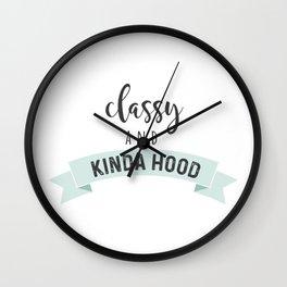 Classy & Hood Wall Clock