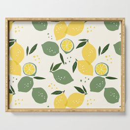 Lemon Pattern Serving Tray