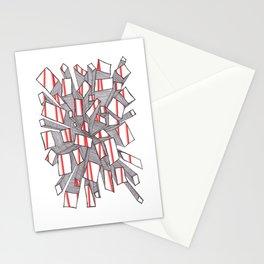 Red Fragmentation Stationery Cards