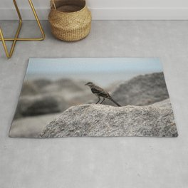Bird On A Rock By The Sea Rug