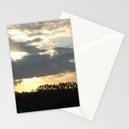 Sunset over palm trees Stationery Cards
