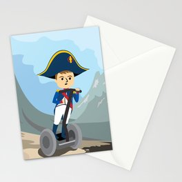 Napoleon Segways the Alps Stationery Cards