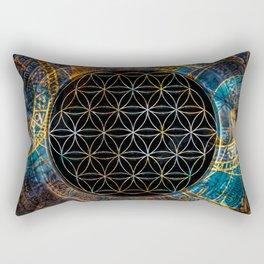 Flower of Life Zodiac 2 Rectangular Pillow