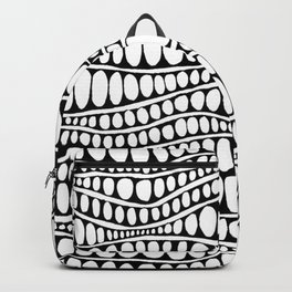 Wavy Lines and Dots Backpack