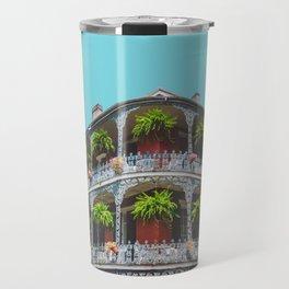Hanging Baskets of Royal Street, New Orleans Travel Mug