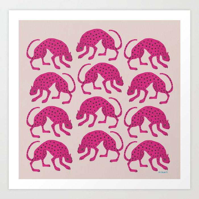 Wild Cats - Pink Kunstdrucke