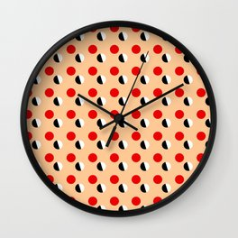 new polka dot 16- ceramic colors Wall Clock