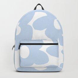 Large Baby Blue Retro Flowers White Background #decor #society6 #buyart Backpack