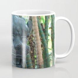 Lion Statue in the Tropics Photography Coffee Mug
