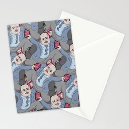 Run Away Office Boy tessellation Stationery Cards