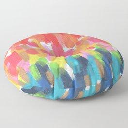 Neon Rainbow Floor Pillow