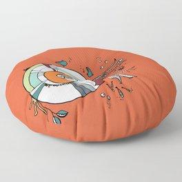 Nautilus Orange Floor Pillow