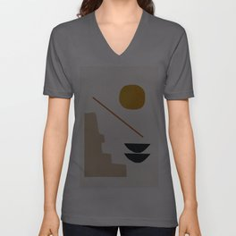 abstract minimal 6 Unisex V-Ausschnitt