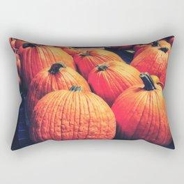 Pumpkins on a Pallet Rectangular Pillow