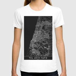 Tel Aviv-Yafo Black Map T-shirt