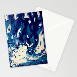 MIDNIGHT BLUE MARBLE #2 Stationery Cards