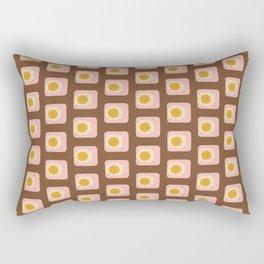 Flower Eggs Brown Rectangular Pillow
