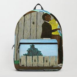 American American Masterpiece 'Harmonizing' portrait painting by Horace Pippin Backpack