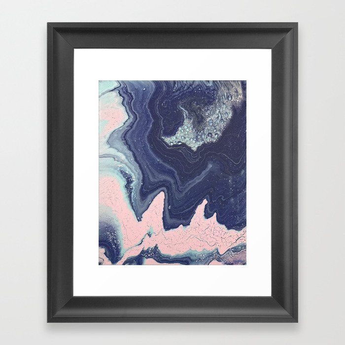 Fluid No. 11 - Geode Gerahmter Kunstdruck