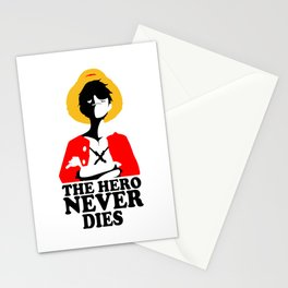 The Hero Never Dies Stationery Cards