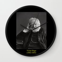 Nadar. Portrait of Victor Hugo 2 Wall Clock