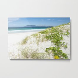 Beach with white sand and turquoise water in Cabo Frio - Brasil Metal Print