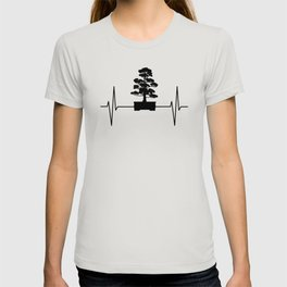 Bonsai Tree EKG Heartbeat Japan Culture Gift T-shirt