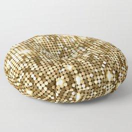 Golden Metallic Glitter Sequins Floor Pillow