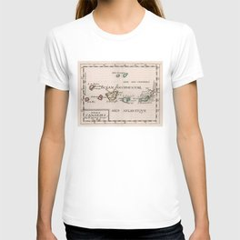 Vintage Map of The Canary Islands (1682) T-shirt