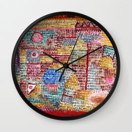 "Paul Klee ""POR"" Wall Clock"