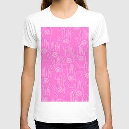 Pink Retro Hands T-shirt