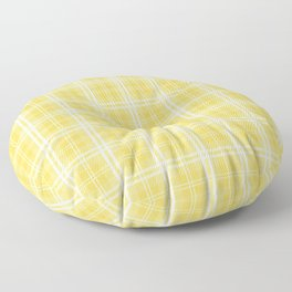 Spring 2017 Designer Color Primrose Yellow Tartan Plaid Check Floor Pillow