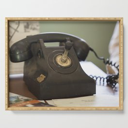 The Old Telephone Serving Tray