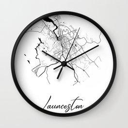 Launceston Area City Map, Launceston Circle City Maps Print, Launceston Black Water City Maps Wall Clock