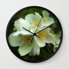 Fragrant Flower Elegance Wall Clock