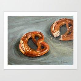 Pretzels in paint Art Print