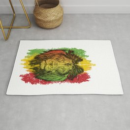Rasta Jamaican Lion Gift for Rastafari & Reggae music fans graphic Rug