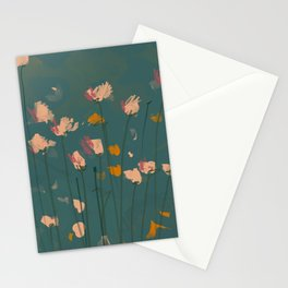 A Field Of Flowers Bloom Stationery Cards