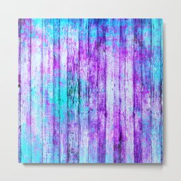 Pastel Rainbow Abstract Stripes Metal Print
