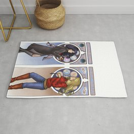 Apple and Necklace Rug