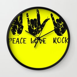 Peace Love Rock - Rock and Love Wall Clock