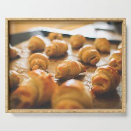 Baking Mini Croissants Serving Tray