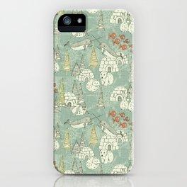 arctic retro iPhone Case