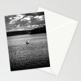Lonely Ship Buoy Halt Weiterfahrt Verboten Möhne Reservoir Lake bw Stationery Cards