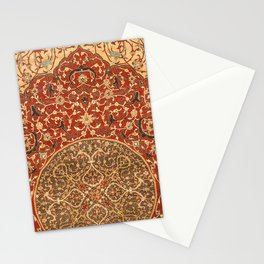 Flowery Vines VIII // 16th Century Contemporary Red Blue Yellow Colorful Ornate Accent Rug Pattern Stationery Cards