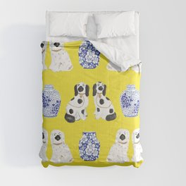 Staffordshire Dogs + Ginger Jars No. 6 Comforters