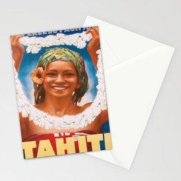 Affiche tahiti la perle du pacifique. 1934 Stationery Cards