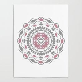 Heart Mandala – Pink Poster
