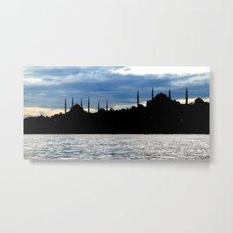 Sultanahmet Camii Skyline Istanbul Turkey Metal Print