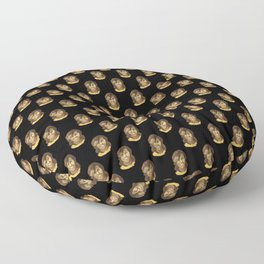 Michelle (black background) Floor Pillow